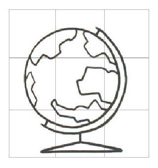 地球仪 学习简笔画 高清图片