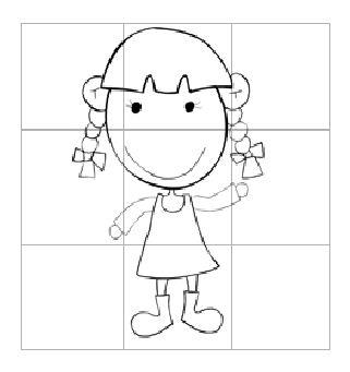 可爱女孩图片_学习简笔画