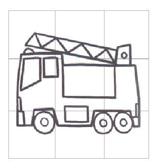 儿童简笔画消防车_消防车图片_学习简笔画_少儿图库_中国儿童资源网