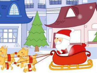 圣诞老人到我们村
