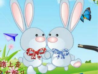 小兔子抽烟斗