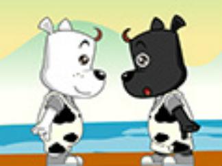 嘟拉益智故事之兩只小狗過河