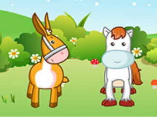嘟拉益智故事馬和驢的故事