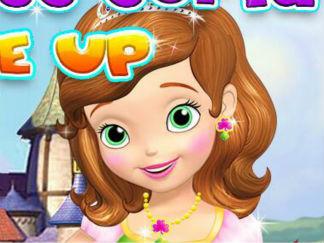 给索菲亚公主化妆