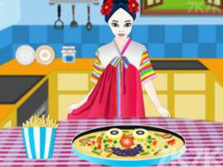 烹饪韩国披萨