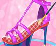灰姑娘的时尚高跟鞋