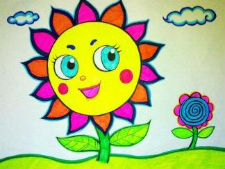 向日葵水彩画图集