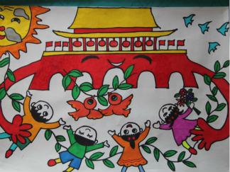 国庆节水彩画图集