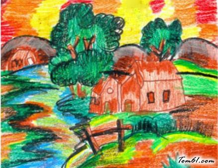 小房子水彩画图集