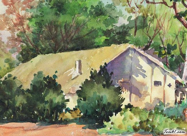 小房子水彩畫圖集