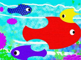 鱼的水彩画图集