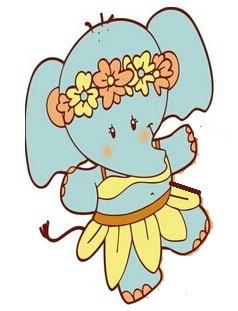 [花小象 花店]小象的花头巾