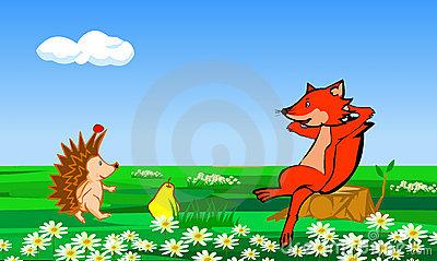 【狐狸吃刺猬歇后语】刺猬和狐狸