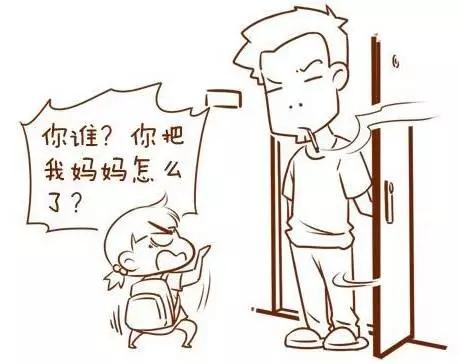 四格漫画素材简笔画_我回来啦_四格漫画_儿童文学_儿童资源网