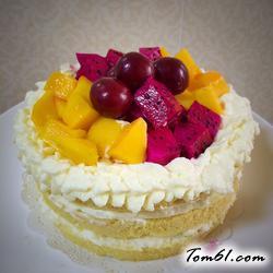蒸奶油水果蛋糕的做法
