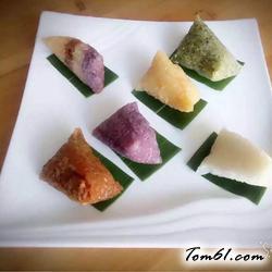 彩色粽子的做法
