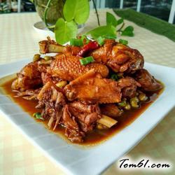 毛豆米烧鸡的做法