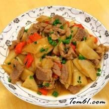 凉薯炒肉片的做法