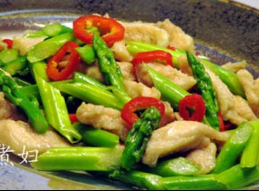 芦笋炒鸡丝,营养美味的减肥菜