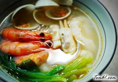海鲜面疙瘩,饭菜一锅出的懒人农家饭
