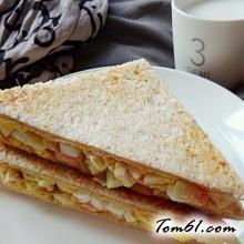西瓜皮鸡蛋三明治的做法