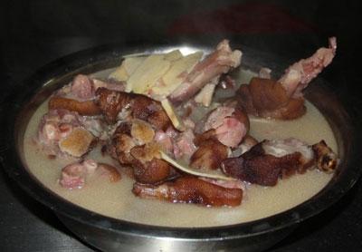 腊猪脚炖菜谱的高压锅冬笋_特色菜谱_家常菜重庆v猪脚做法图片