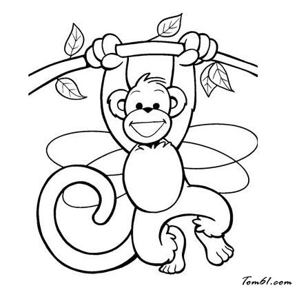 猴子简笔画 步骤 公主