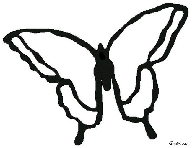 蝴蝶简笔画图片素材