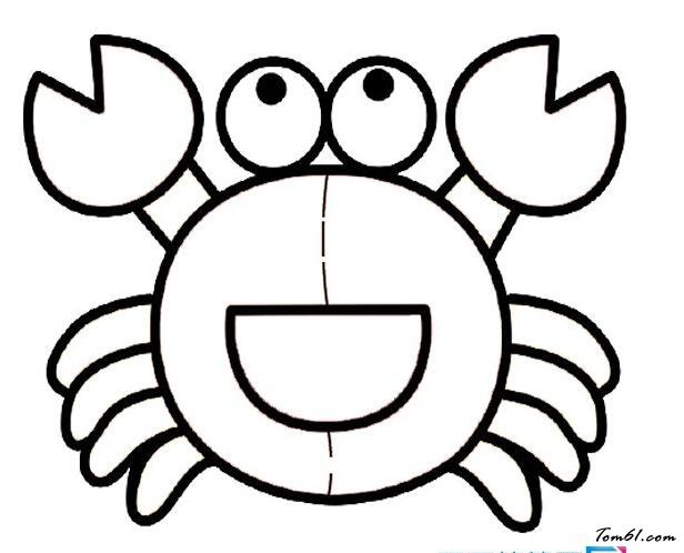 螃蟹3图片_简笔画图片_少儿图库_中国儿童资源网