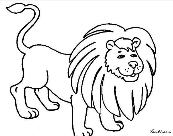 狮子5图片_简笔画图片_少儿图库_中国儿童资源网图片