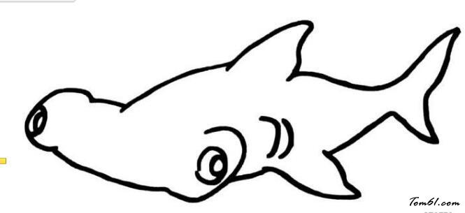 鲨鱼3图片_简笔画图片_少儿图库_中国儿童资源网