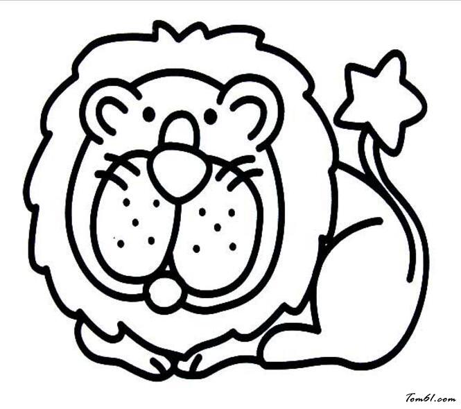 狮子5图片_简笔画图片_少儿图库_中国儿童资源网