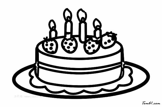 蛋糕6图片_简笔画图片_少儿图库_中国儿童资源网