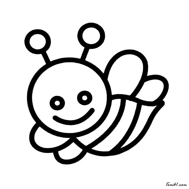 儿童画蜜蜂简笔画