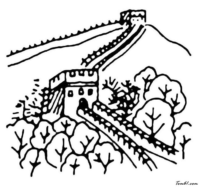 长城图片_简笔画图片_少儿图库_中国儿童资源网