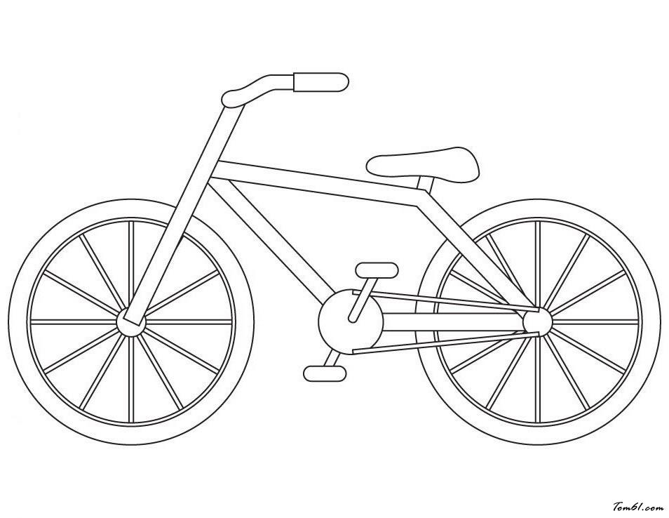 自行车8图片_简笔画图片_少儿图库_中国儿童资源网