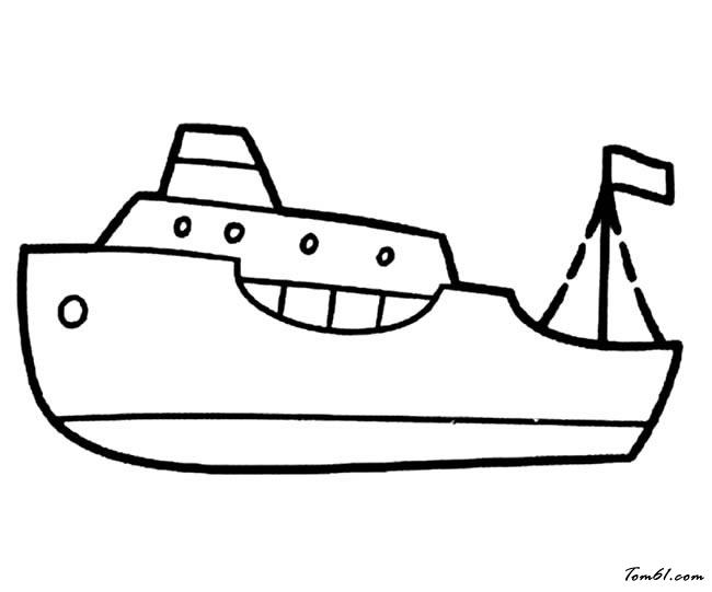 輪船3圖片_簡筆畫圖片_少兒圖庫_中國兒童資源網