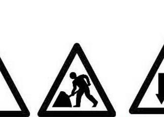 三角形路标图片