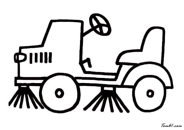 环卫清洁车图片_简笔画图片_少儿图库_中国儿童资源网图片