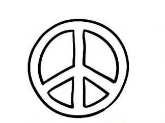 和平标志图片 简笔画图片 少儿图库
