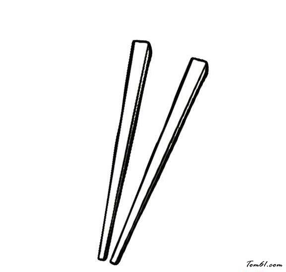 筷子简笔画步骤