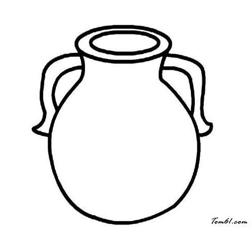 花瓶手绘图片简单画法