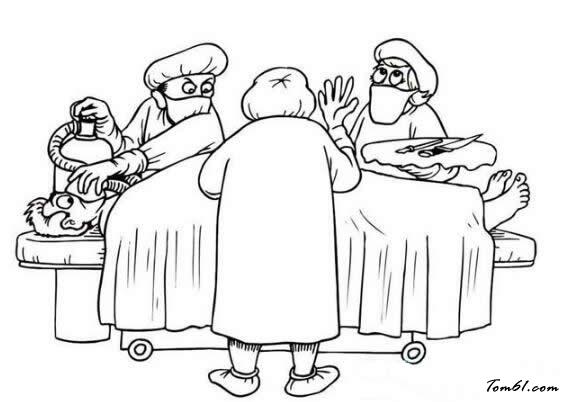 幼儿学画医生的图片