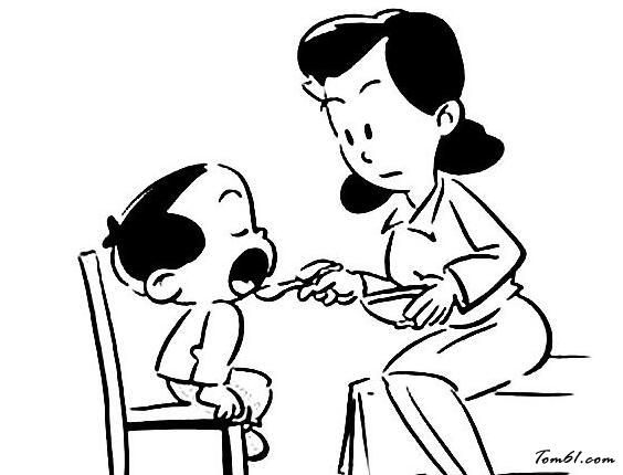 幼儿吃饭的情景图片_简笔画图片_少儿图库_中国儿童图片
