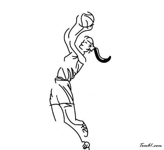 运动画画图片大全(打篮球)