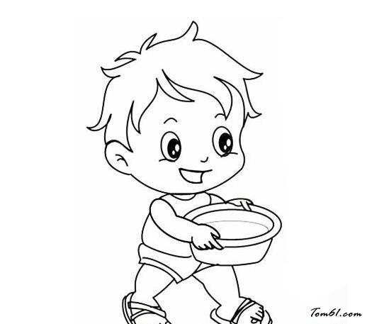 宝宝给妈妈端水图片_简笔画图片_少儿图库_中国儿童