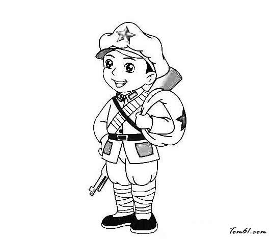 红军人物图片_简笔画图片_少儿图库_中国儿童资源网