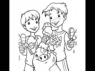 夏天吃冰激凌的孩子图片 简笔画图片 少儿图库