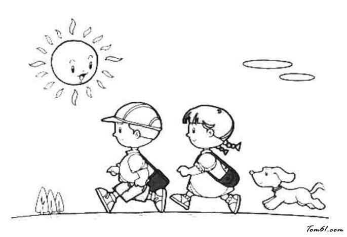 开学图片_简笔画图片_少儿图库_中国儿童资源网图片