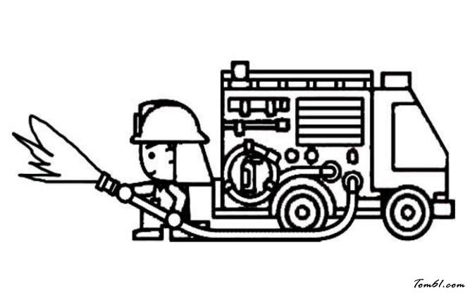 消防素材简笔画